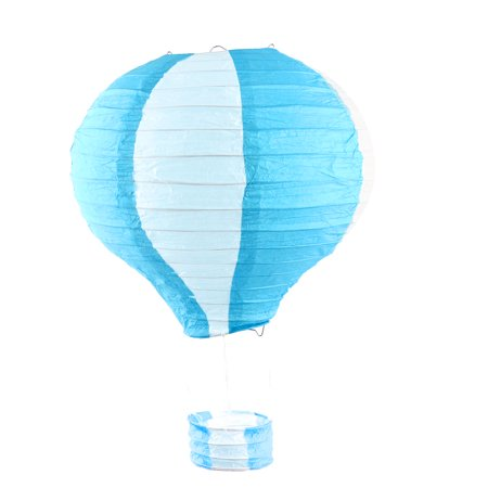 Festival Party Paper Handmade Lightless Hot Air Balloon Lantern Sky Blue - Sky Lanterns In Store