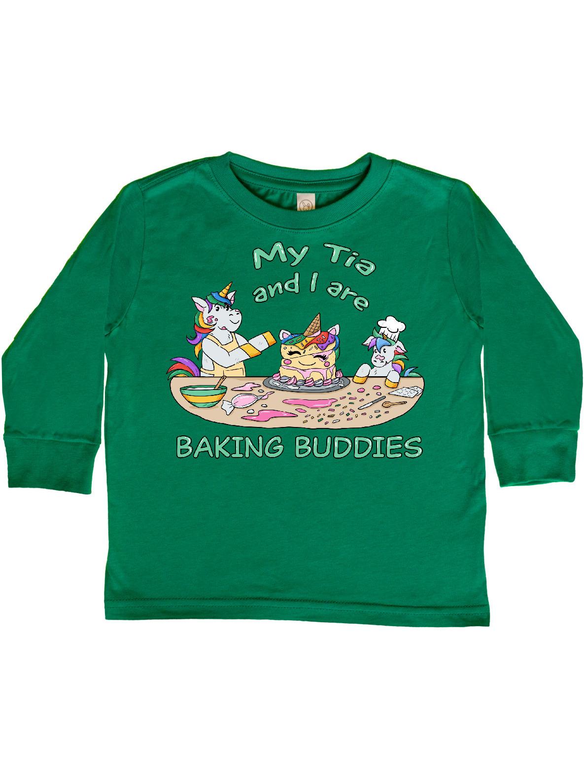 inktastic My T/ía Loves Me with Cute Rainbow Unicorn Baby T-Shirt