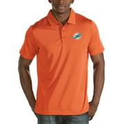 Miami Dolphins Antigua Quest Stripe Polo - Orange