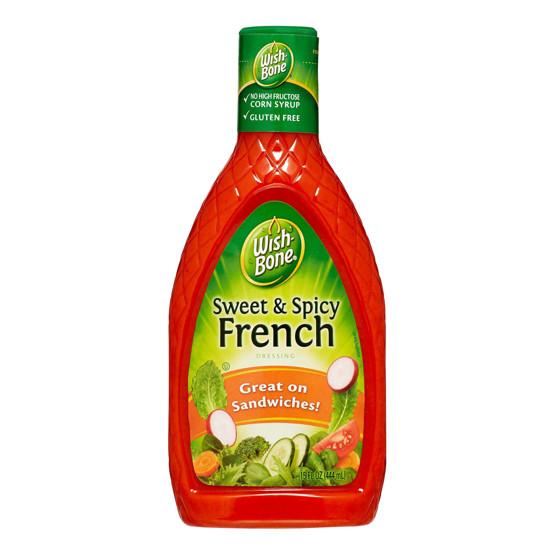 (3 Pack) Wish-Bone Salad Dressing, Sweet & Spicy French, 15 Fl Oz