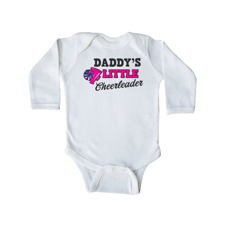 Daddy's Little Cheerleader with Megaphone and Pom Poms Long Sleeve Creeper for $<!---->