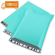 Metronic 14.5x19 Poly Mailers 100 PCS Shipping Bags Teal Envelopes with Self Adhesive, Waterproof and Tear-Proof Postal Bags