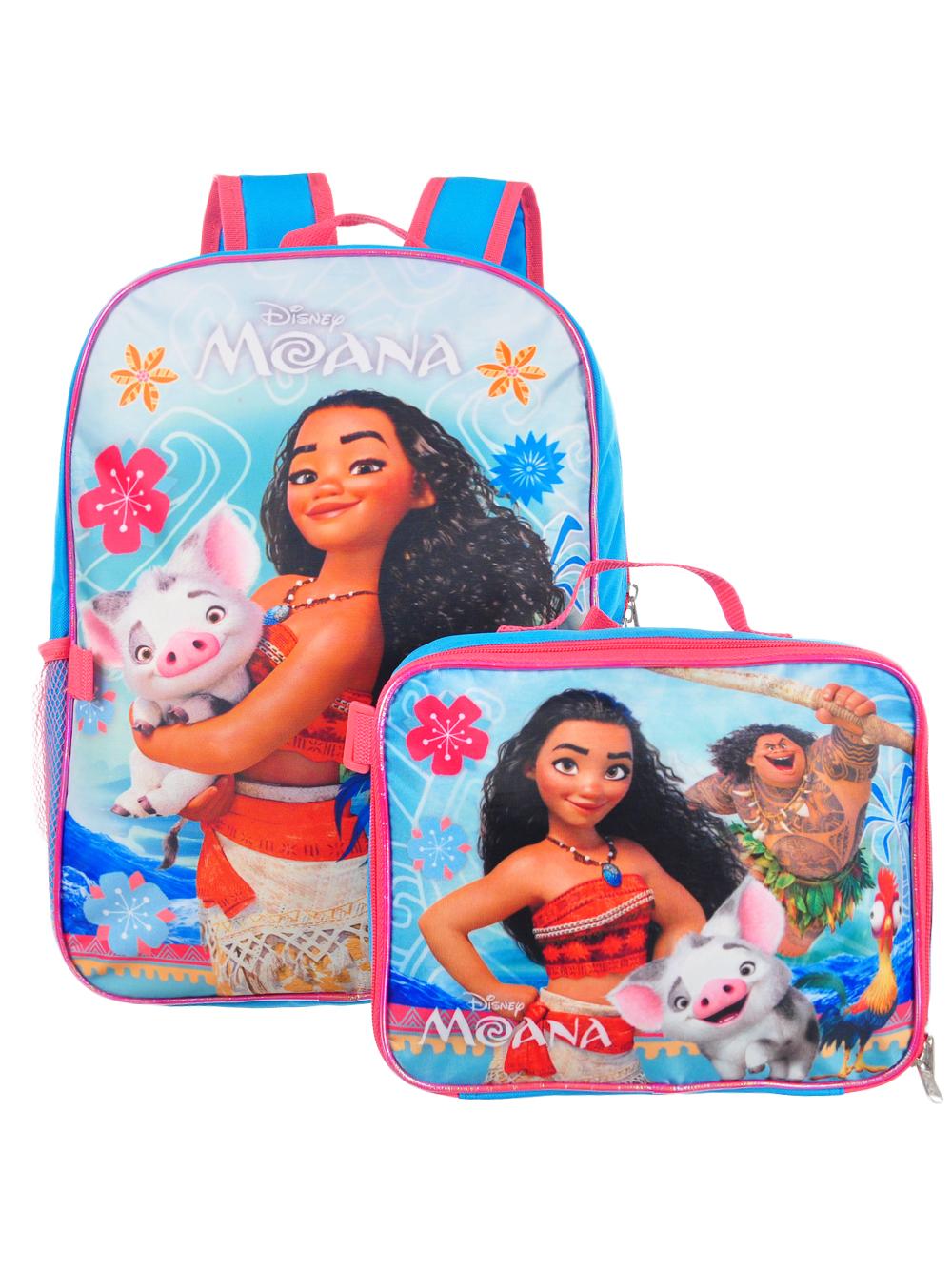"""Girls Moana Backpack 15/"""" Light Blue"""