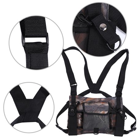 Anauto Universal Hands Free Radio Harness Chest Rig Pocket Pack Holster Vest for Two Way Radio,Radio Chest Harness, Radio Chest