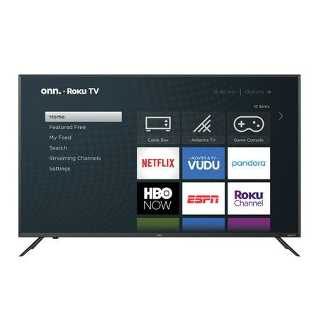 "onn. 50"" Class 4K UHD LED Roku Smart TV HDR (100012585)"