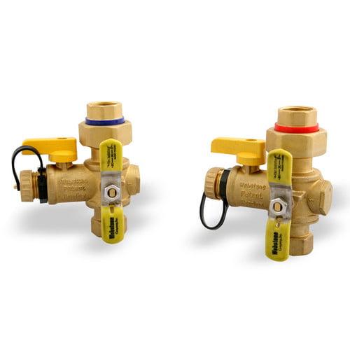 "3/4"" ips tankless water heater isolation valves (lead free"