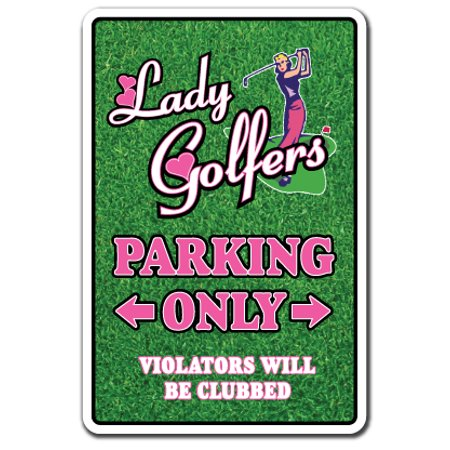 Lady Golfers Decal | Indoor/Outdoor | Funny Home Décor for Garages, Living Rooms, Bedroom, Offices | SignMission Golf Club Ball Golfer Ladies Gift Player Team Country Driving Decal Decoration