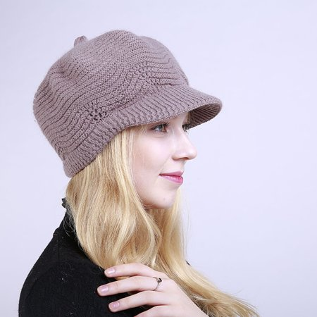 Moderna Fashion Women Girl Solid Color Winter Warm Knitted Hat Cap Christmas Present