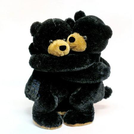 """10"""" Hugging Black Bears Wishpets"""