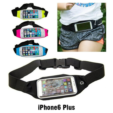 IClover iPhone6 Plus Lightweight Waterproof Waist Pack Sport Running Belt Pouch with Headphone Jack Fitness Cycling, Gym,Hiking, Walking Suitable for Smartphones iPhone6 Plus under 6''