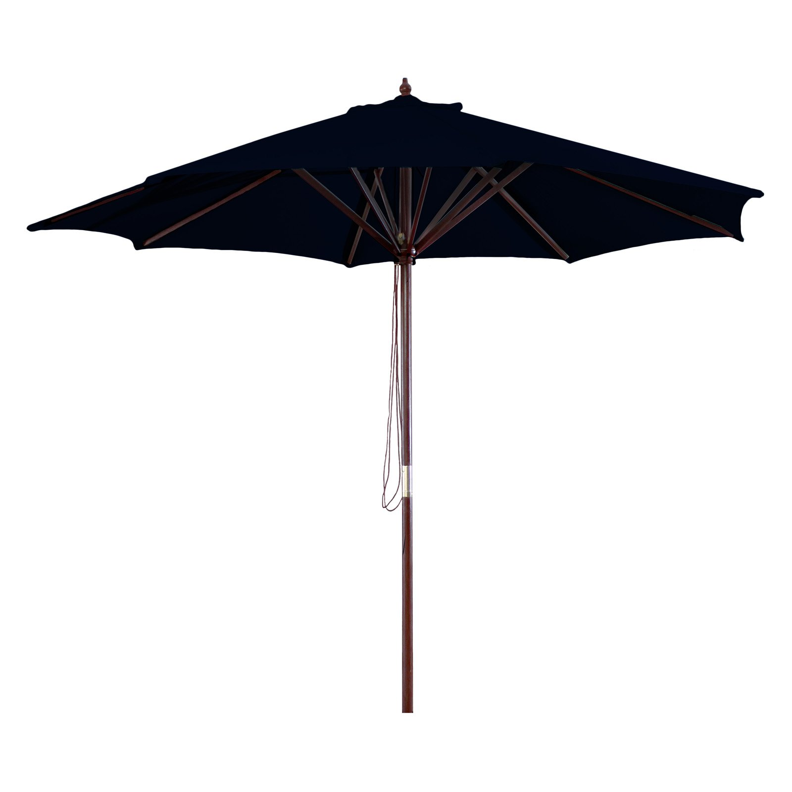 9' Wood Market Umbrella, Multiple Colors by Jordan Manufacturing