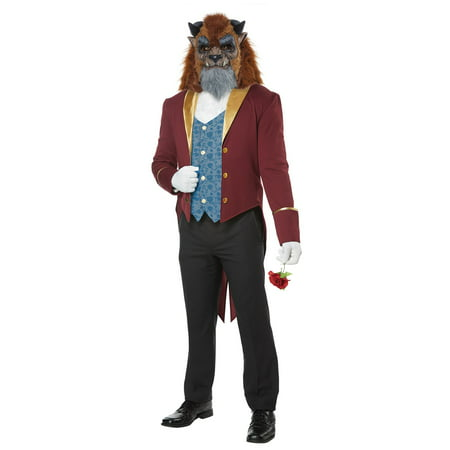 Storybook Beast Men's Costume - Beauty And The Beast Blue Dress
