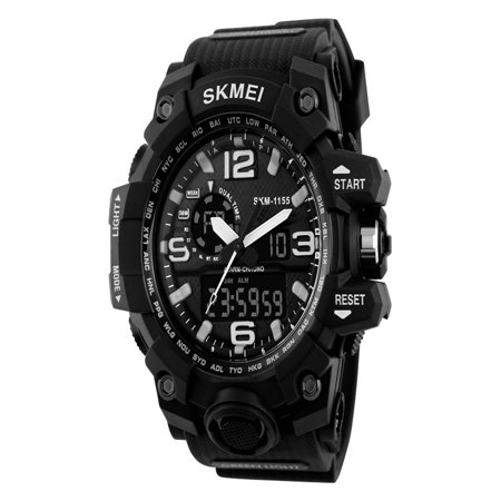 SKMEI New Design Luxury Brand LED Military Waterproof Wristwatch Fashion Sport Super Cool Men's Quartz Analog Digital Watch Man Sports Watches for Running and