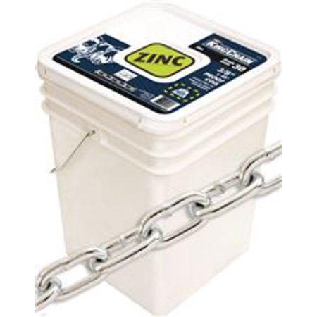Gr30 Proof Coil Chain, Zinc, 3/8 In. X 45 Ft. (Acco Proof Coil Chain)
