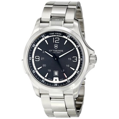 Victorinox Men's Night Vision Black Dial Stainless Steel Watch (Victorinox Night Vision)