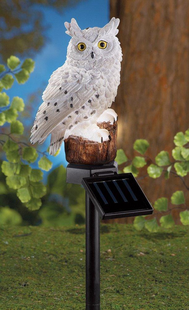 Solar Owl Garden Stake Com