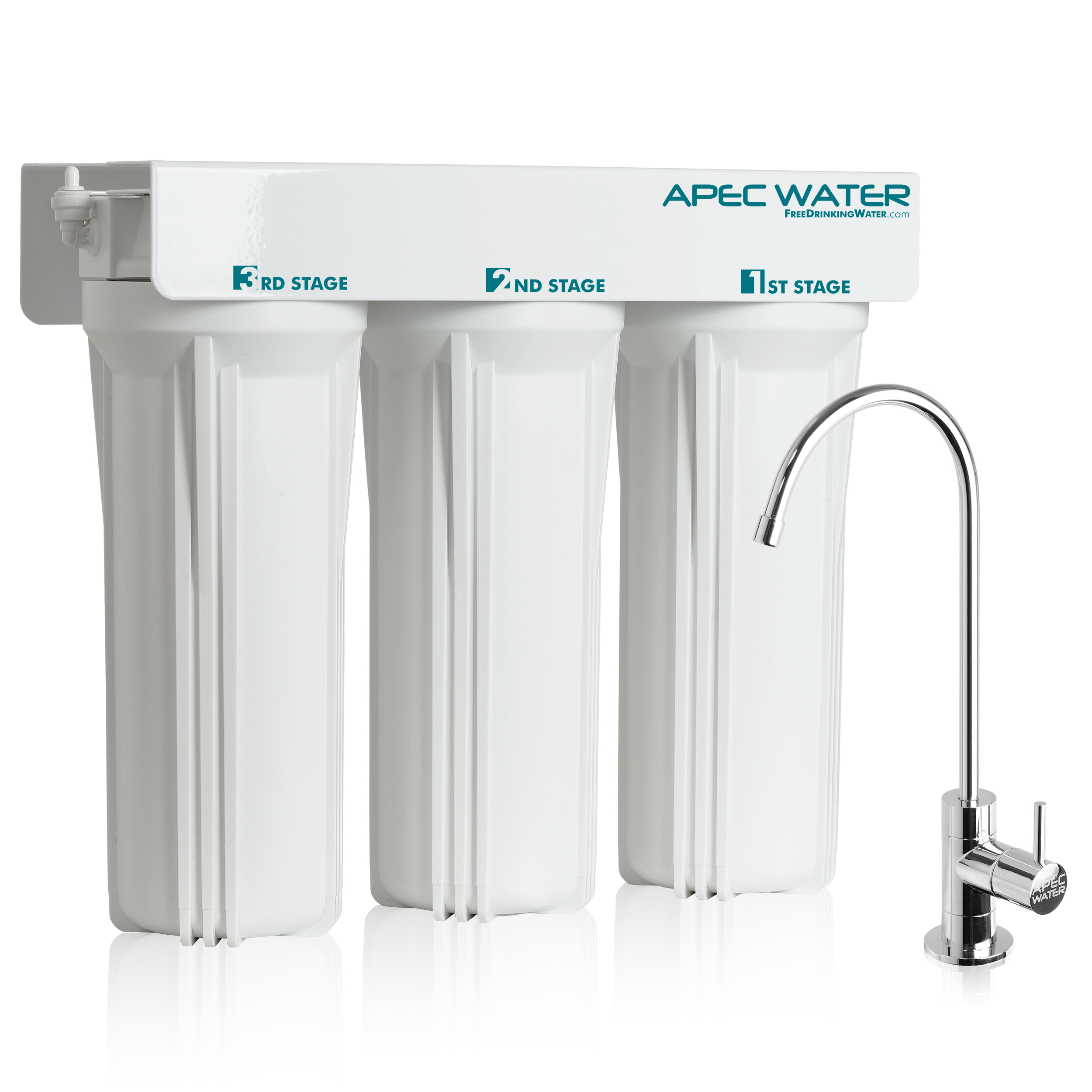 APEC - Super Capacity 3 Stage Under Counter Water Filtration System (WFS-1000)