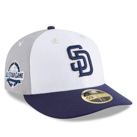finest selection 65e9f 31fbc San Diego Padres New Era 2018 MLB All-Star Game On-Field Low Profile 59FIFTY  Fitted Hat - White Blue - Walmart.com