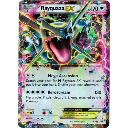 Pokemon X & Y Promo Single Card Ultra Rare Holo Rayquaza-EX (Holofoil Rare Single Card)