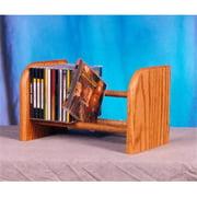 Wood Shed 104 Solid Oak 1 Row Dowel CD Rack