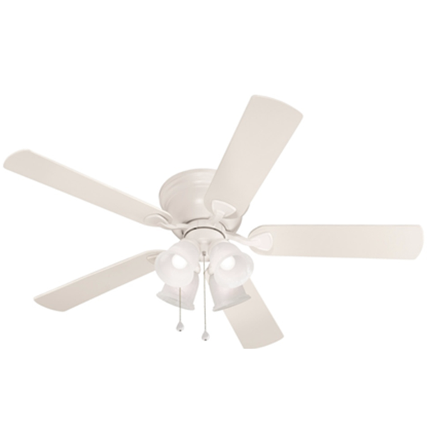 Harbor Breeze Centreville 52 In White Indoor Flush Mount Ceiling Fan 0807435 Walmart Com Walmart Com