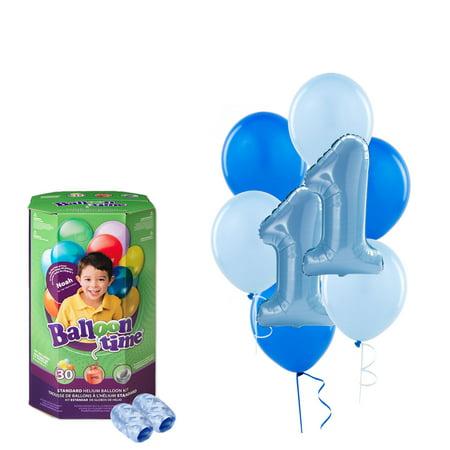 Boys 1st Birthday Balloons with Helium Tank - Balloon Tank