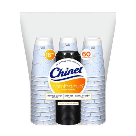 Pack of 2 Chinet three layers of Superior insulation Comfort Cup 16 oz. Hot Cups & Lids (120 ct. total)