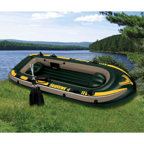 Intex 4-Person Seahawk Boat Set, Green
