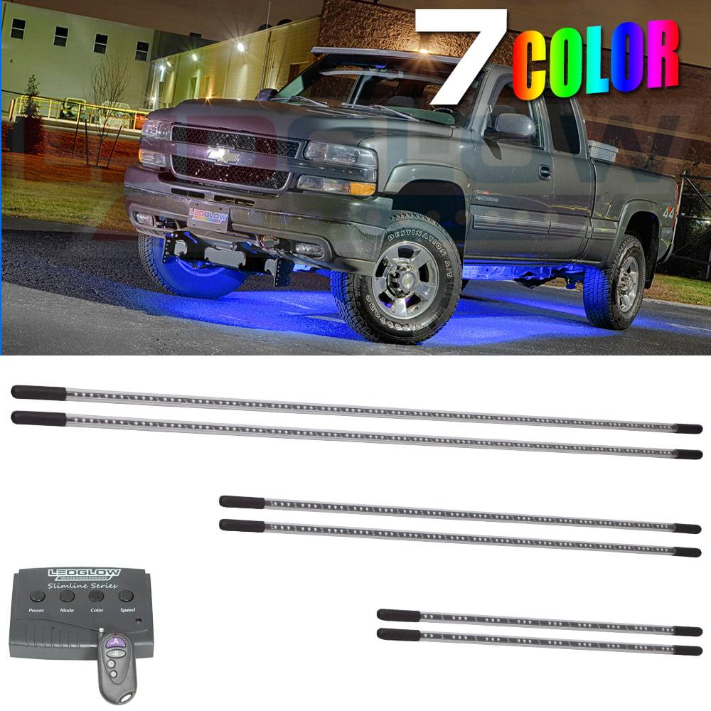 LEDGlow 6pc 7 Color SMD LED Slimline Truck Underbody Underglow Lighting Kit & LEDGlow Lighting LLC on Walmart Seller Reviews - Seller Discover