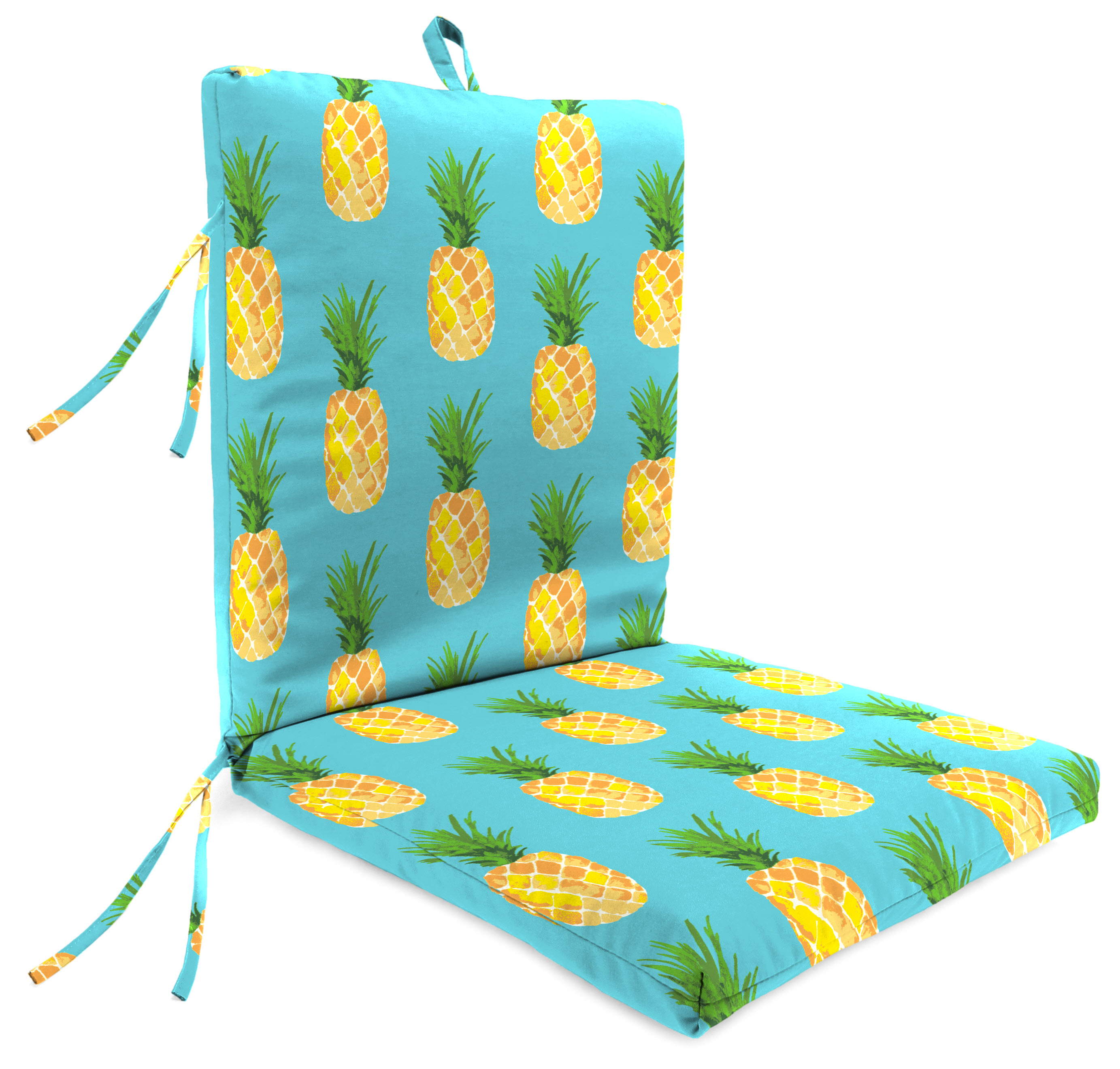 Mainstays Outdoor Patio 1 Piece Chair Cushion Smoothie Aqua