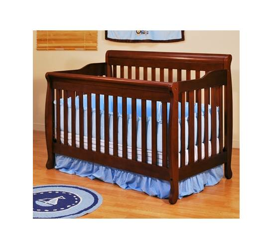 AFG Baby Furniture Alice 4-in-1 Convertible Crib with Mattress