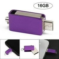 USB 2.0 16GB Flash Drive Memory Stick OTG & USB Dual-use U Disk