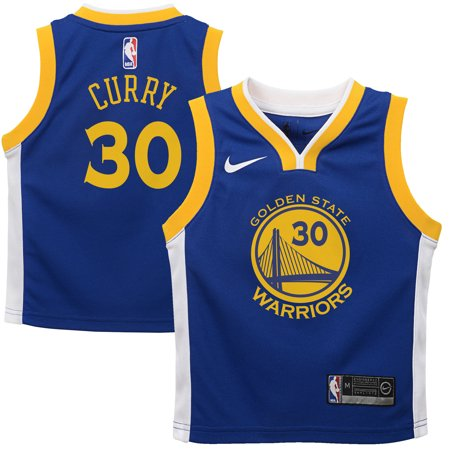 pretty nice 7e9ff 9e352 Stephen Curry Golden State Warriors Nike Preschool Replica Jersey Blue -  Icon Edition