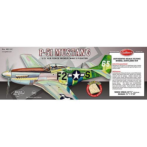 Guillow's P51 Mustang Laser Cut Model Kit by Generic