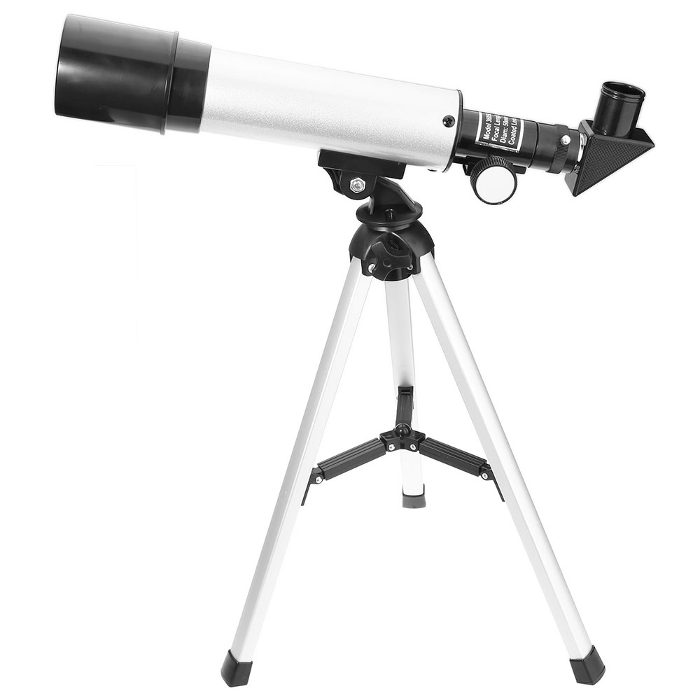 90X Portable Astronomical Refractor Tabletop Telescope, 360X50mm, For Kids Sky Star Gazing & Birds Watching