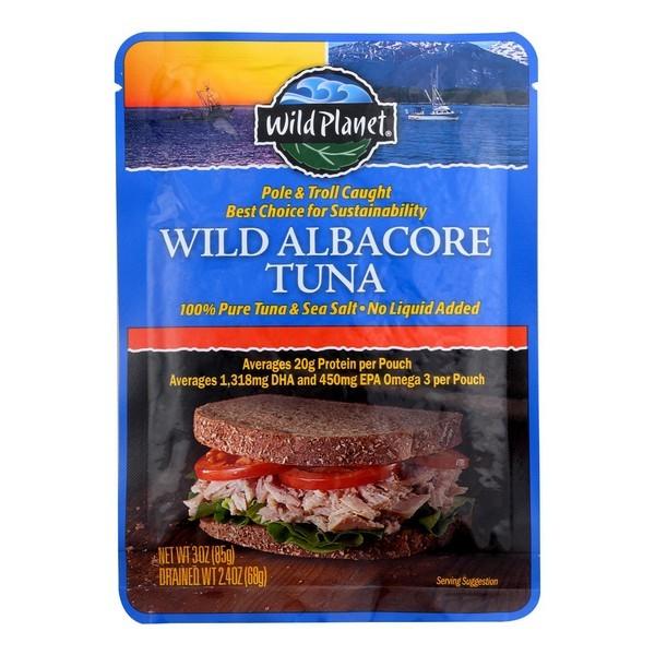Wild Planet Wild Albacore Tuna - Pouch - pack of 12 - 3 Oz.