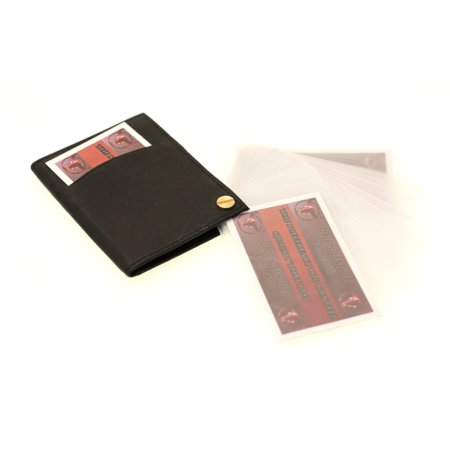 Genuine Leather Credit Card Case Holder Fan Fold Mens Womens Compact 15 Sleeves