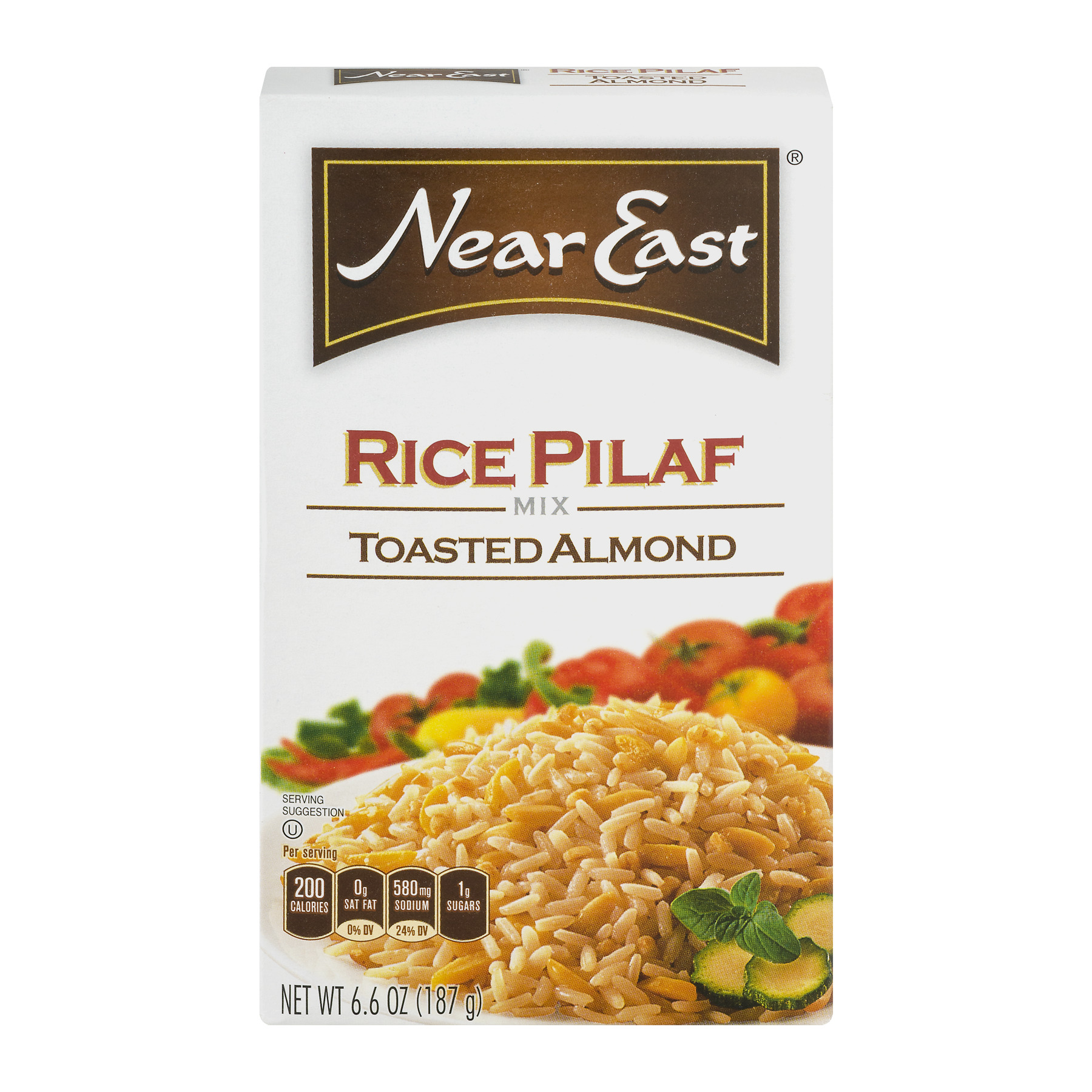Near East Rice Pilaf Mix, Toasted Almond, 6.6 oz Box