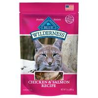 Blue Buffalo Wilderness Chicken & Salmon Grain-Free Cat Treats, 2-oz bag