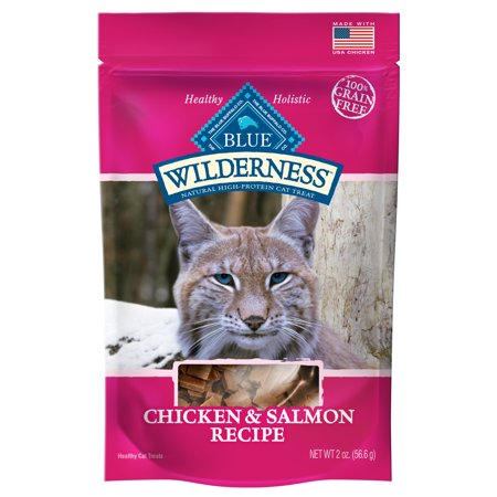 Blue Buffalo Wilderness Grain-Free Soft-Moist Cat Treats, Chicken & Salmon, 2-oz bag