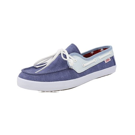 Vans Women's Chauffette Americana Stv Navy / Forget Me Not Ankle-High Canvas Fashion Sneaker - 5M - Cosplay Shops Near Me