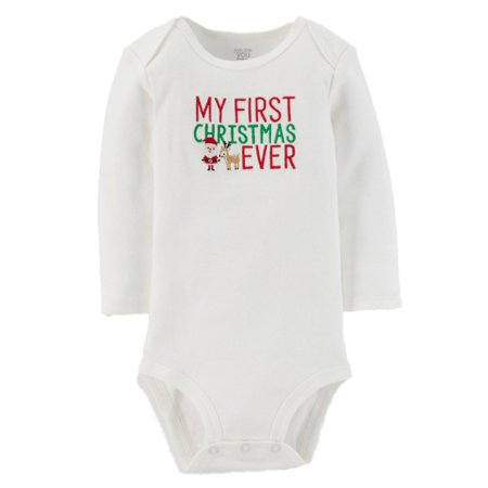 Carters Infant Boys & Girls My First Christmas Ever Bodysuit Holiday Creeper