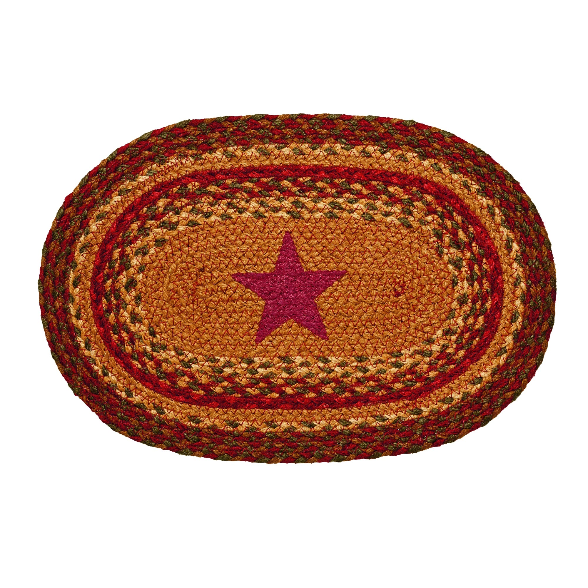 Cinnamon Star Braided Rug Swatch