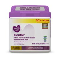 Parent's Choice Gentle Non-GMO* Infant Formula Milk-Based Powder, 33.2 oz, 4 Pack