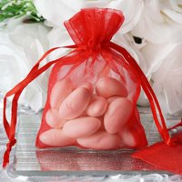 """Efavormart 10PCS Organza Gift Bag Drawstring Pouch for Wedding Party Favor Jewelry Candy Sheer Organza Bags - 3""""x4"""""""