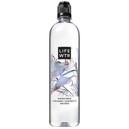 LIFEWTR, Premium Purified Water, pH Balanced with Electrolytes For Taste, 700 mL flip cap bottles (Pack of 12) (Packaging May Vary)