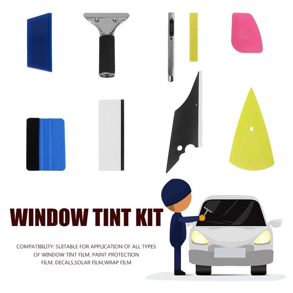 8 In 1 Money Saving Diy Car Vinyl Wrap Tool Window Tint Kit For