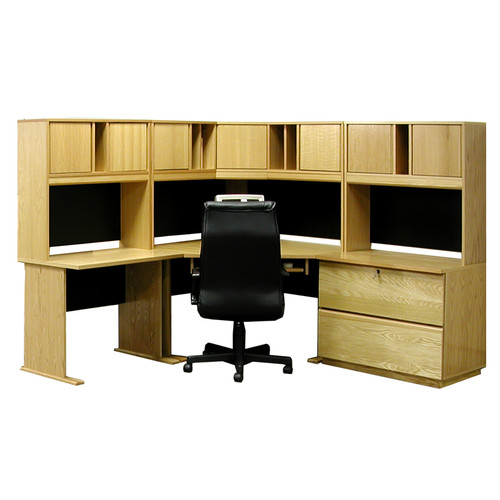 Rush Furniture Office Modulars Computer Desk with Hutch And Chair Set