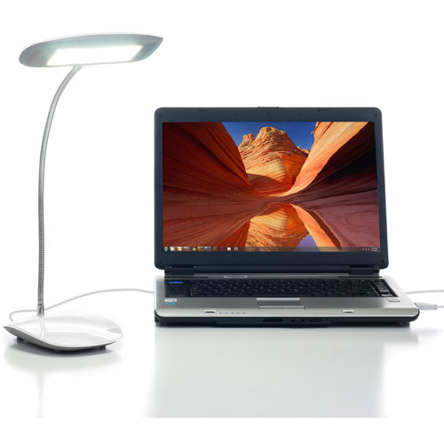 Northwest 18-LED Touch Activated USB Desk Lamp, White