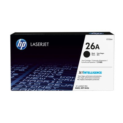 HP 26A Black Original LaserJet Toner Cartridge ()
